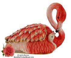 Trinket Box: Flamingo with BabyTrinket Box $41.90