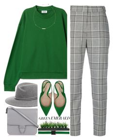 """1603"" by mykatty091 ❤ liked on Polyvore featuring rag & bone, Alexander Wang, Deimille, Alaïa, Vintage, N°21, GREEN, emeraldgreen and polyvorecontest"