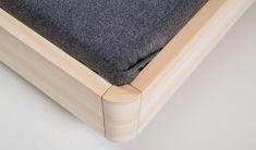 Zirbenholzbett Granat astfrei Nursery Furniture, Bed Furniture, Furniture Design, Bed Legs, Diy Bed Frame, Bathroom Mat, Minimalist Furniture, Wood Beds, Headboards For Beds