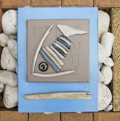 Conversation de poissons... Tableau en bois flotté | Statue et ...