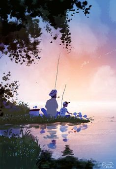 Pascal Campion, Balance My son came up to me yesterday and told. Pascal Campion, Kleiner Muck, Love Illustration, American Artists, Cute Art, Amazing Art, Watercolor Art, Concept Art, In This Moment