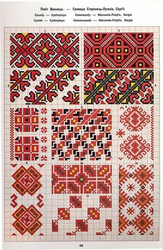 Hello all, I recently received a request as to how to tell the difference between Ukrainian Bukovyna embroidery and Romanian Bucov. Polish Embroidery, Folk Embroidery, Cross Stitch Embroidery, Embroidery Patterns, Cross Stitch Borders, Cross Stitch Charts, Cross Stitch Patterns, Folk Clothing, Cross Hatching