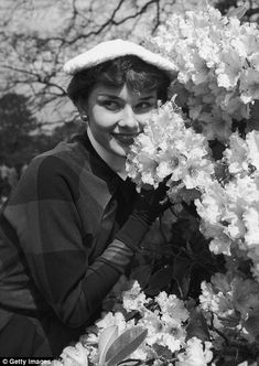 The 21-year-old Hepburn lights up the popular outdoor venus as she flashes her captivating smile