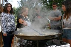 #cooking #paella with our cook Adela #Erasmus+ #youthcamp #Ontinyent hands-on cooking lessons