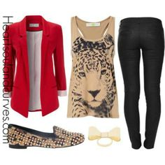 One of my fav, red & leopard