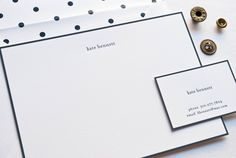 personalized stationary - navy and spotty and preppy, oh my!