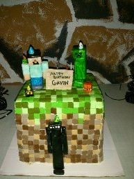 Minecraft cake for one of my boys.