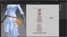 Modeling 3D clothes in Marvelous Designer By JH Park bag pattern