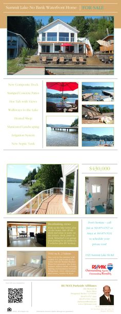 Summit Lake No Bank Waterfront For Sale $430,000