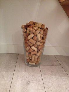 Recup' Bouchon de liege dans vase transparent