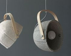 DOME+ lamps with bamboo