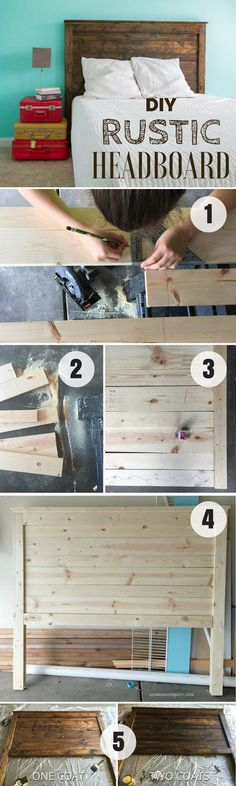 Check out how to build this easy DIY Rustic Headboard @istandarddesign #easyhomedecor