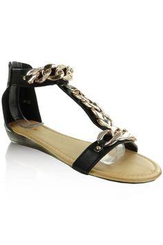 b4c4429bdf859 Casual Dress Sandals black