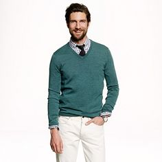 Patrick 3 - J.Crew - Slim merino wool V-neck sweater