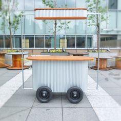 ✔ The Galvan Cafe Shop Design, Kiosk Design, Booth Design, Food Cart Design, Food Truck Design, Coffee Carts, Coffee Shop, Bar Deco, Food Kiosk