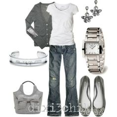 jeans & white tee...amped up! by MamieKnowsBest