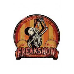 Retro-A-Go-Go Freak Show Metal Sign $34.95 @ RebelCircus.com