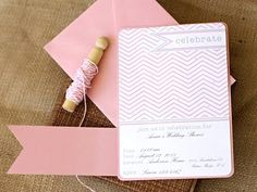 16 FREE Party #Invitation #printables-love the light pink chevron