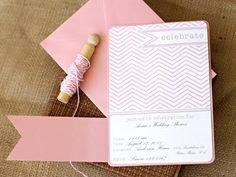 16 FREE Party Invitation printables-love the light pink chevron