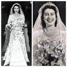 Queen Elizabeth was a blushing bride! That smile is so radiant. Gotta love her. #CelebrateSparkle