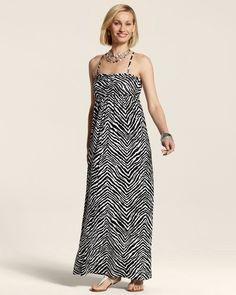 Chico's Women's Zenergy Gemma Zebra Maxi Dress