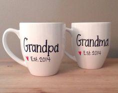 Pregnancy reveal mugs, grandparents to be, pregnancy reveal mugs