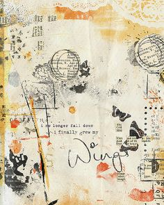 Art journal inspiration. Wings, via Flickr. by Melita Bloomer