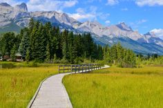Wooden Trail by jackborno 4reigndestinations.tumblr.com #Travel #Mountains