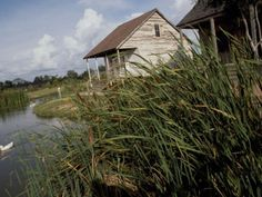 Louisiana Bayou | Houses Along the Louisiana Bayou are Seen Photographic Print at ...