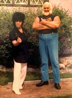 Prince   1982-1983 '1999' Era - with Security and good friend, the late Big Chick.
