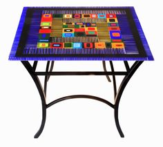 Handmade Coffee Table- Steel And Fised Glass by Helen Rudy Glass | CustomMade.com