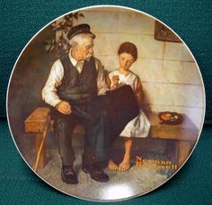 """Knowles Co. (1979) ~ Norman Rockwell Collector Plate ~ """"The Lighthouse Keeper's Daughter"""""""