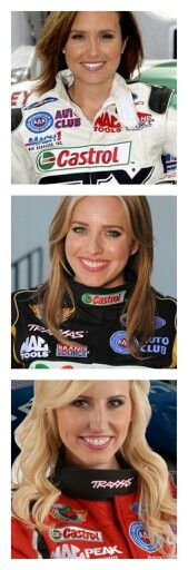 Women in racing. The Force sisters. Daughters of Legendary John Force NHRA Champion. Ashley Force-Hood (top,oldest) Brittany Force (center middle) Courtney Force (bottom,youngest)