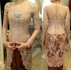 Dress brokat pendek modern 45 Ideas for 2019 Kebaya Muslim, Kebaya Modern Hijab, Dress Brokat Modern, Model Kebaya Modern, Kebaya Hijab, Kebaya Dress, Batik Kebaya, Batik Dress, Lace Dress