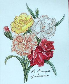The Lilac Studio Botanical A ROSE BOUQUET Flowers - Counted Cross Stitch Pattern Chart - Cindy Rice
