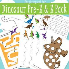 Dinosaur Printables for Preschool