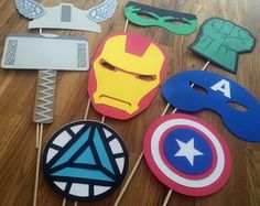 Photo Props: The Marvel Avengers Super Hero Set 7 by BabyBinkz