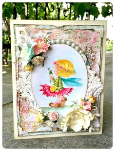 This week, I created a shabby chic card, perfect for any girl. or fairy :) You can find all the Wild Orchid Crafts used i. Wild Orchid, Orchids, Shabby Chic, Fairy, Create, Flowers, Cards, Inspiration, Home Decor