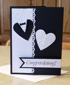 Hand Made Greeting Cards, Making Greeting Cards, Greeting Cards Handmade, Wedding Cards Handmade, Handmade Birthday Cards, Creative Birthday Cards, Craftwork Cards, Engagement Cards, Wedding Anniversary Cards