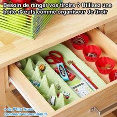 Enfin une Astuce Simple Pour Organiser l'Interieur de Ses Tiroirs.