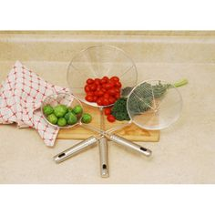 @Overstock.com - 3-piece Stainless Steel Wire Strainer Set - These strainers each feature a long handle to keep hands away from heat and an easy grip to keep a firm hold with an end loop for hanging. High quality stainless steel ensures long-lasting durability and reliability.  http://www.overstock.com/Home-Garden/3-piece-Stainless-Steel-Wire-Strainer-Set/6708429/product.html?CID=214117 $19.99