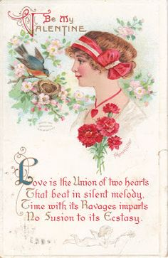 Dear friends,   Happy Valentine's Day!   I thought today I would share with you some   favorite Valentine postcards from my collection.   ...