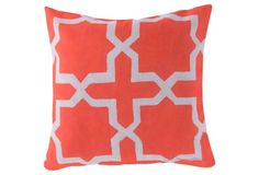 Moroccan 20x20 Pillow, Coral