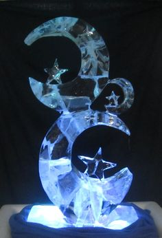 ice sculpture -- Moon and Stars