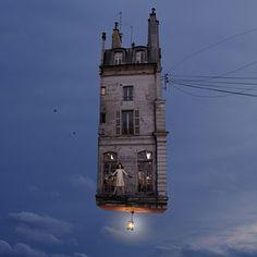 Flying Houses by LAURENT CHEHERE Bogota Photo Festivalp