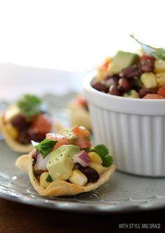 black bean, corn & avocado salsa