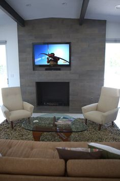 Modern Home Tv Above Fireplace Design, Pictures, Remodel, Decor and Ideas - page 2