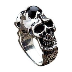 Pandora Jewelry is recognized for its elegant and classic style. The collection of Pandora has more than 600 charms and matching jewelry to choose from. The amazing and nice thing about Pandora Jewelry Skull Wedding Ring, Silver Skull Ring, Skull Rings, Sterling Silver Jewelry, Gold Jewelry, Jewelry Rings, 925 Silver, Silver Earrings, Jewellery