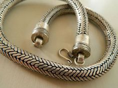 heavy silver snake chain - Google Search