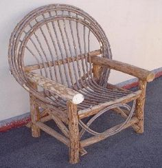 Patio Chairs - Plant Nursery Willow Furniture - High Quality Rustic Country Décor Pool Beach